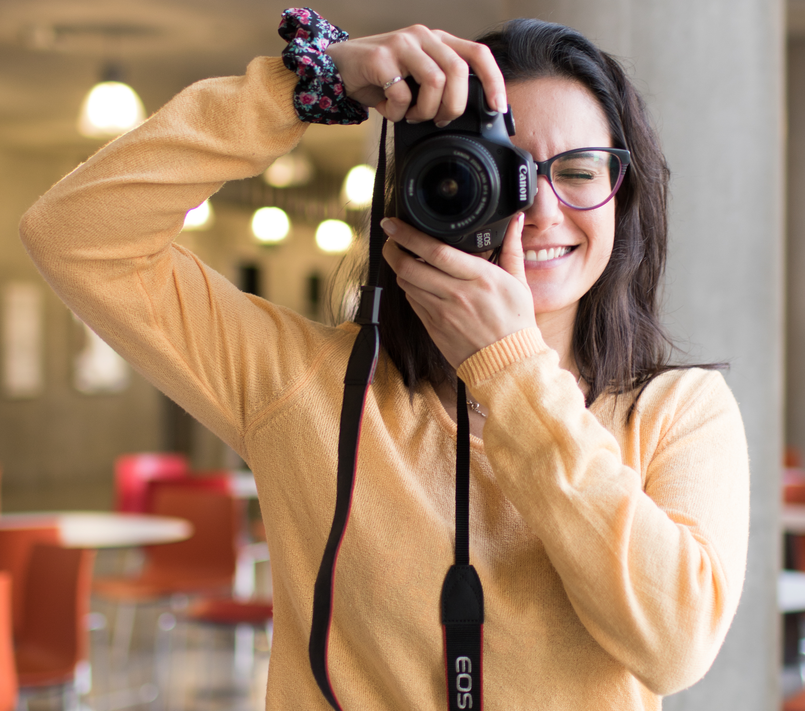 Student taking a photo