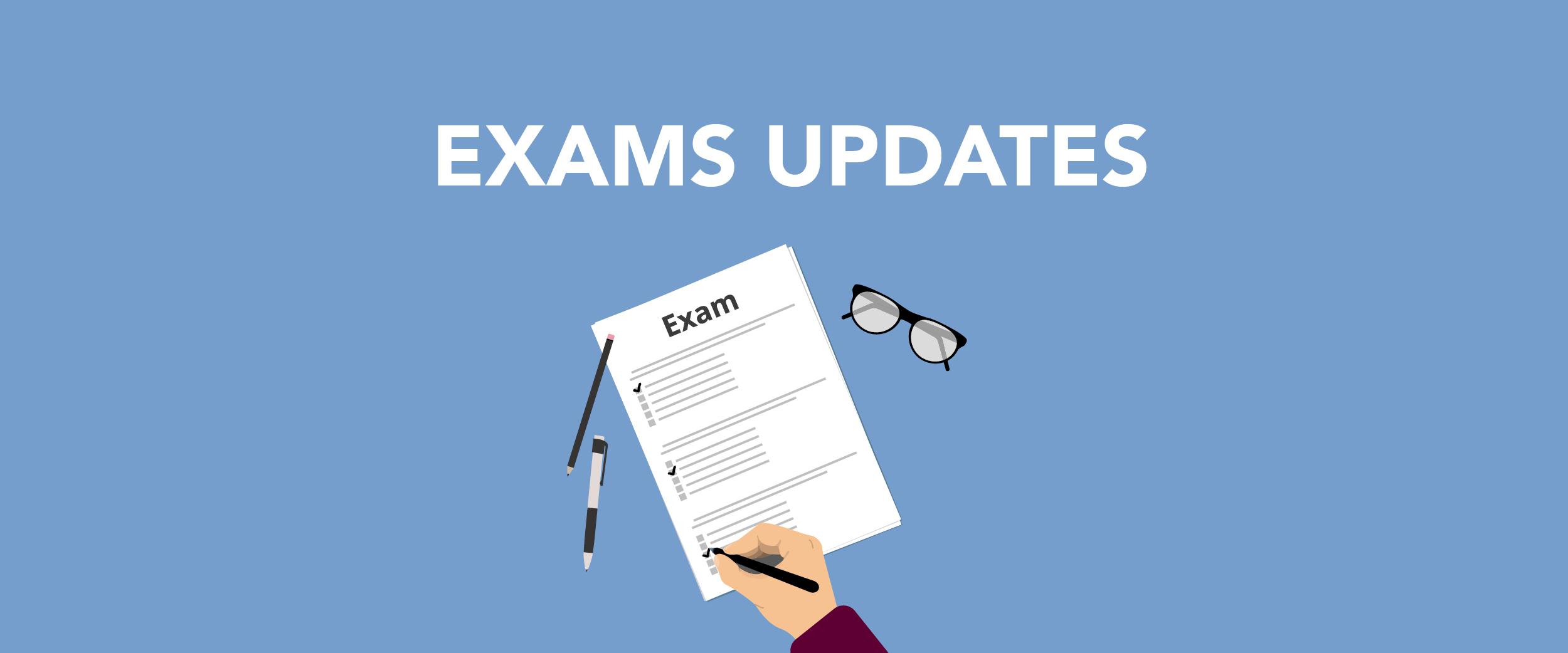 2021-01-06 Exams Update banner