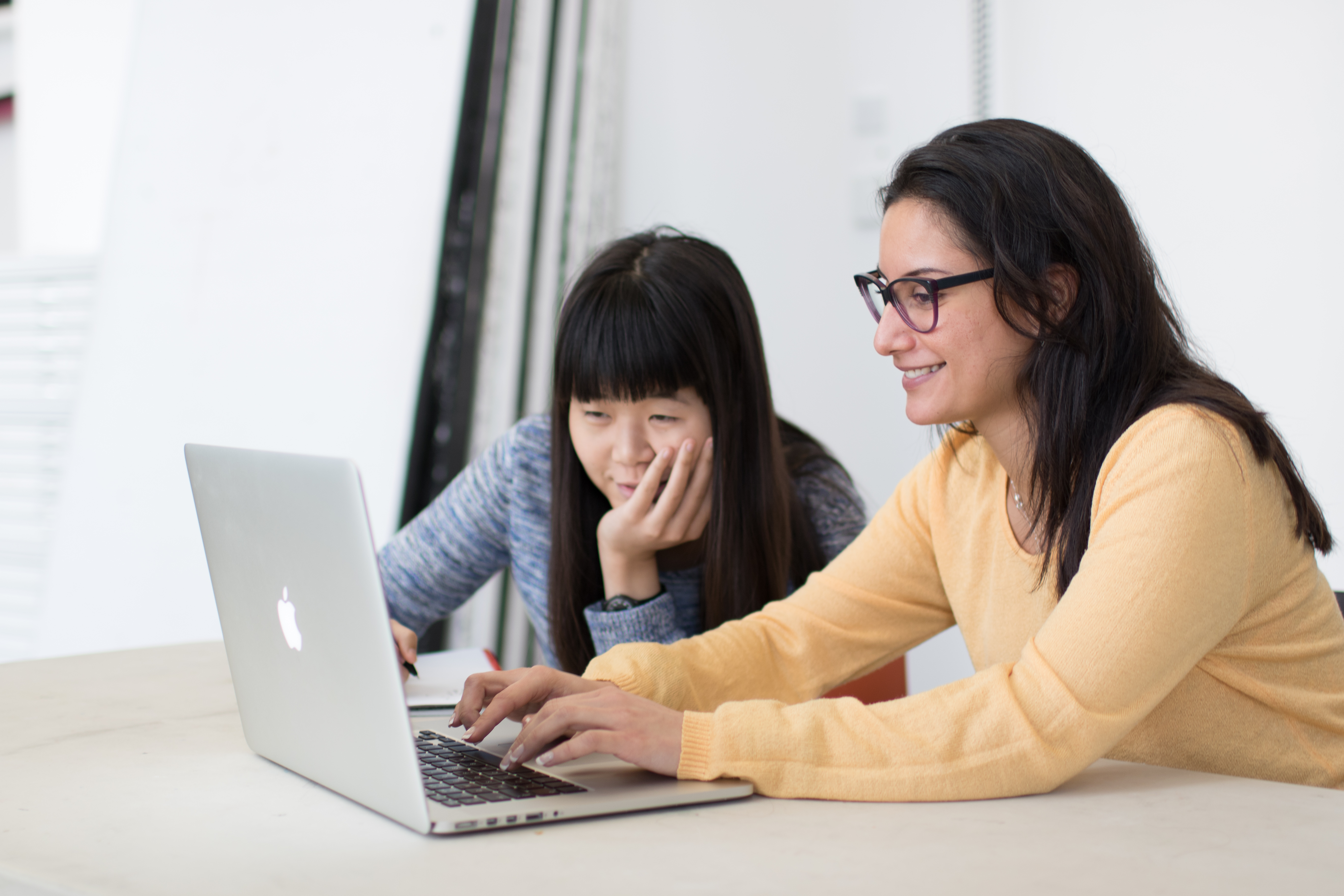 Students at a laptop